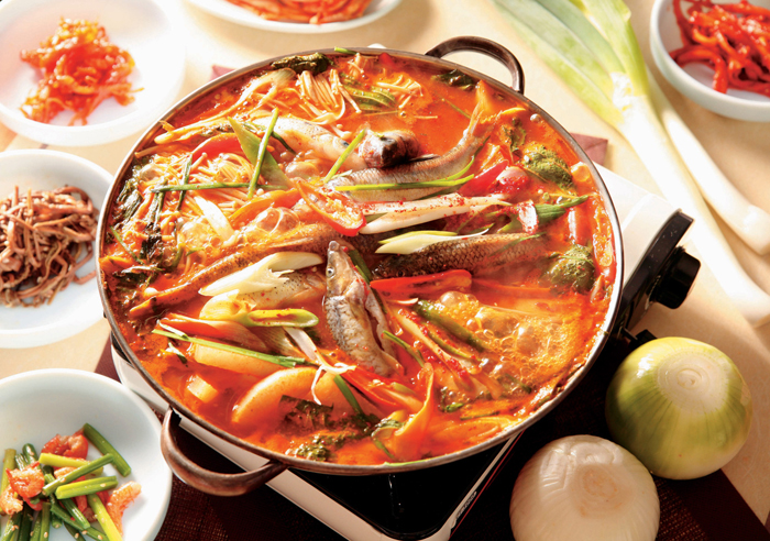 Minmul Maeuntang spicy fresh water fish stew