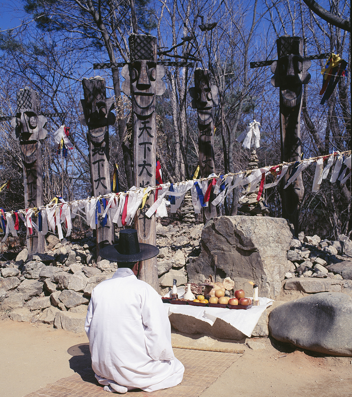 Jangseung ceremony praying for peace well-being