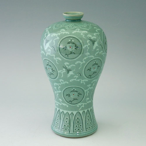 Korean Celadon Vase Vase And Cellar Image Avorcor